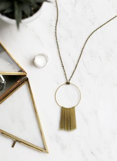 DIY Circle Matchstick Necklace @themerrythought