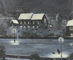 Gary Bunt, Sunday Service Through the old church windows The candles welcome glow Along the street go paws and feet Through freshly fallen snow ⛪️ #GaryBunt #14thDecember