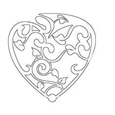 Printable Design Patterns   Fancy Valentines Day Heart   FREE CRAFT PATTERNS