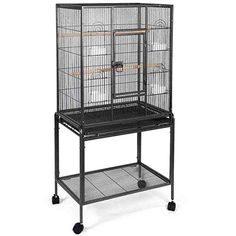 SUNCOO Large Bird Cage for Parrot Budgie Parakeet Cockatoo Cocatiel Iron Bird Aviary with Stand Pet Supply Black Large Dog Cage, Large Parrot Cage, Large Bird Cages, Bird Cage Stand, Pet Bird Cage, Cockatiel Cage, Budgie Parakeet, Budgies, Finch Cage