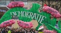 Kaczyński jako gąsienica, polski rząd pokazali jeszcze dosadniej... Ostre kpiny na niemieckiej paradzie
