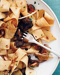 Pappardelle with Porcini and Pistachios Recipe on Food