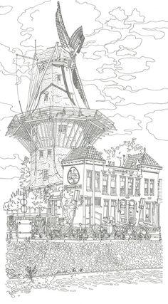 drawing Brouwerij t IJ by Studio Ellessi
