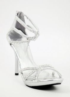 Bridesmaid shoes! Silver Sandals with 5&quot heels and 1.25&quot platform