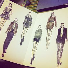 Amazing details :) Thanks @pllaalln  on Fashionary A4 Sketchbook    http://statigr.am/p/315855659181020363_12774612