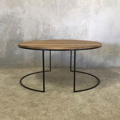 We custom made this Biron Coffee Table for a client. It has a solid wood top and black powder coated metal legs. What coffee table are you looking for? Take a look at our website or contact us for something custom made - at a super affordable price! Solid Wood Coffee Table, Round Coffee Table, Interior Styling, Interior Decorating, Interior Design, Online Furniture, Home Furniture, Wooden Furniture, Hardwood