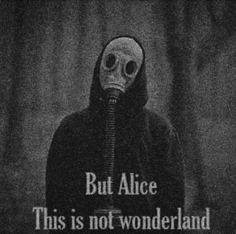 """But darling, you are not Alice, and this is not Wonderland."""