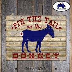 Farm Party - Barnyard Birthday Party - Pin The Tail On The Donkey Game - Printable (Farm Animal, Tractor, Vintage) on Etsy, $15.96 CAD