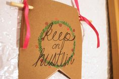 Keep On Hustlin' Motivational Mini Banner- Office Decor, Hustle, Hand-Lettered Signs, Hand-Painted Signs, Typography, Motivate by Papyrusaurus on Etsy