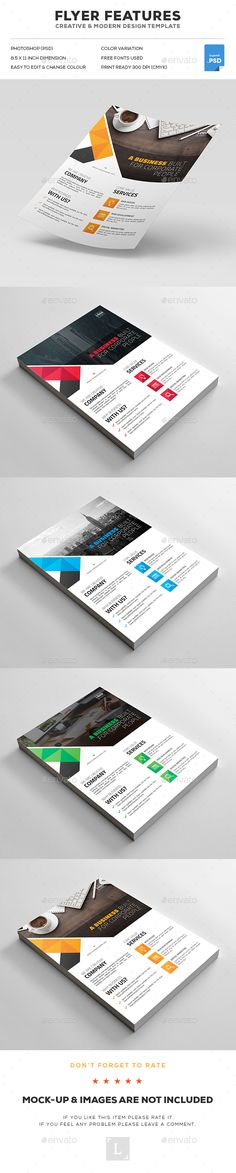 Corporate Flyer Template PSD. Download here: https://graphicriver.net/item/corporate-flyer/16955469?ref=ksioks