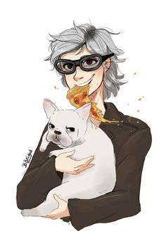 "bbrigid: ""Peter, dog and pizza "" Batwoman, Nightwing, Marvel Fan Art, Marvel Dc Comics, Marvel Avengers, Red Hood, Black Widow, Hawkeye, Captain America"