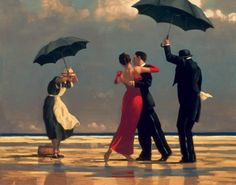 """Jack Vettriano, """"The Singing Butler"""". Oil on canvas. Love this painting :)"""
