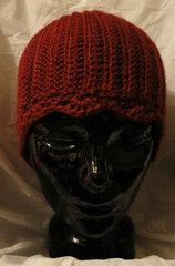Beanie Ribbed in Red   Hipcrochet hats