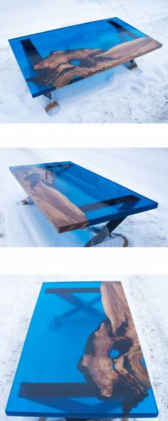 Amazing Resin Wood Table Ideas For Your Home Furnitures 09 – Salvabrani – Salvab… - epoxy resin Resin And Wood Diy, Wood Resin Table, Wood Table, Woodworking Patterns, Woodworking Plans, Woodworking Projects, Resin Furniture, Log Furniture, Diy Coffee Table