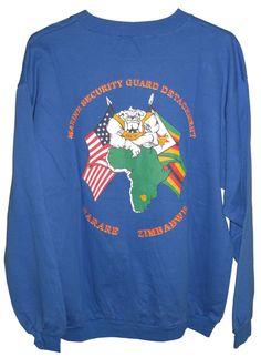 Marine Security American Embassy Zimbabwe Sweatshirt Chest 46'' NW #Threads #Sweatshirt