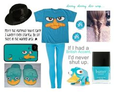 """My Halloween Costume: Perry The Platypus"" by ashley-raulston ❤ liked on Polyvore featuring Allurez, Morgan, Nicole, Disney, Butter London, perry, 195, perrytheplatypus and phinesandferb"