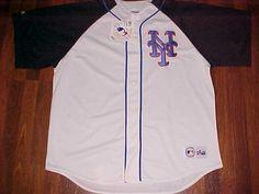 New York Mets 2014 MLB NL East Team Logo Black White Jersey 2XL New NWT #Majestic #NewYorkMets