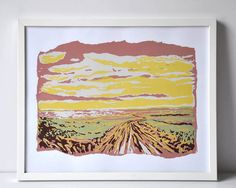 Original five colour handpulled silkscreen print of a by Riempie, $75.00