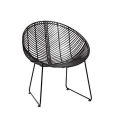Krzesło Rattan Black
