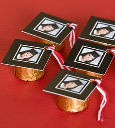 Cute candy graduation party favors
