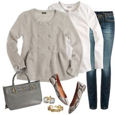 """gray soiree"" by shopwithm on Polyvore"