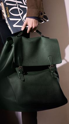 The Travel Satchel in Grainy Leather: One of my favourite runway accessories from the Prorsum Menswear S/S15 show