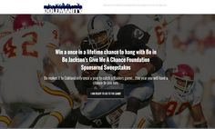 The Bo Jackson's Give Me A Chance Foundation Sweepstakes