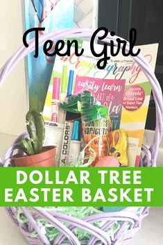 Easter Basket ideas for teenagers. Easter baskets for teen girls. What to put in kids easter baskets. Cheap Easter Baskets, Boys Easter Basket, Easter Bunny, Easter Eggs, Easter Activities, Easter Crafts For Kids, Easter Religious, Easter Celebration, Basket Ideas