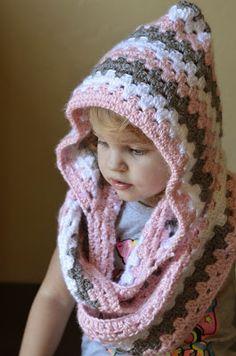 Everyday Everett's: Toddler girl's hooded cowl.