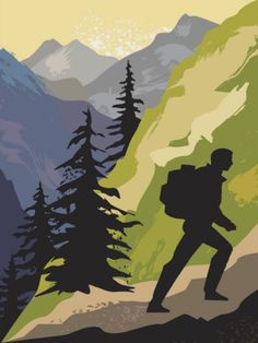 Can't be on hike everyday, but you can look at a #hiking poster