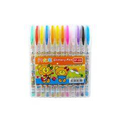 Pix cu gel si sclipici 12 culori/set BP-008