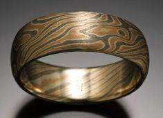 Mokume Rings for Men   Unique Mens Wedding Bands - Rings Unique