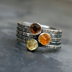 Hey, I found this really awesome Etsy listing at https://www.etsy.com/listing/158685208/honeycomb-sterling-silver-stacking-rings