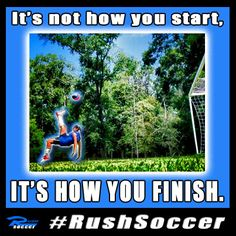tittle page. players start strong but finish stronger. Rush Soccer, Soccer Inspiration, Finish Strong, Motivational, Inspirational Quotes, Timeline Photos, Scrapbooking, Sleep, Wisdom
