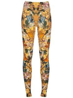 ALEXANDER MCQUEEN - dragonfly print leggings