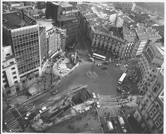 Construction of Bilbao Subway during the ninetees. Architect: Norman Forster.