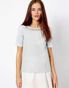 River Island Jacquard Necklace Tee