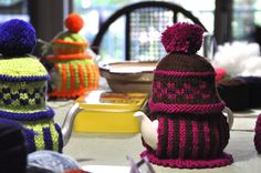 They came   They knitted   They went      Six Sassy Sisters sat stitching for two days.     Yep, that's them...  Karen May  Joyce Su-lin  ...