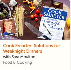 Learn smart strategies, meal planning solutions and exciting recipes for quick weeknight meals that amaze! Television star Sara Moulton shows you how. Thai Cooking, Cooking For Two, Healthy Cooking, Healthy Recipes, Online Cooking Classes, Cake Decorating Classes, Quick Weeknight Meals, No Bake Cake, As You Like