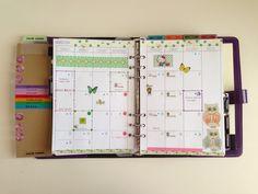 My Purpley Life: My 2014 Monthly Calendar Set Up in my Filofax