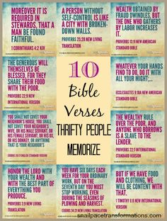 10 bible verses that will help you achieve the financial freedom you desire.