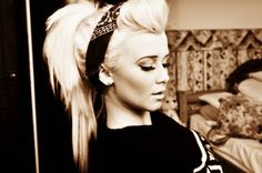 Great play on an updo with a bandana!