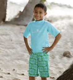 Aqua Short Sleeve Rash Guard | CWDkids