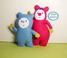 PDF PATTERN: felt Billy and BamBam from Baby tv - DIY cute toy sewing pattern - suffed soft plush tutorial gift for baby - Instant Dawnload