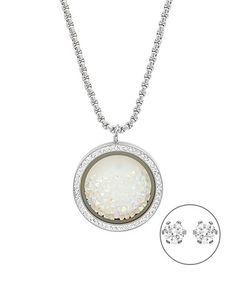 Loving this Aurora Borealis & Simulated Diamond Round Pendant Necklace on #zulily! #zulilyfinds