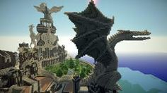 amazing minecraft houses - Google Search lava flowing out from the dragons mouth