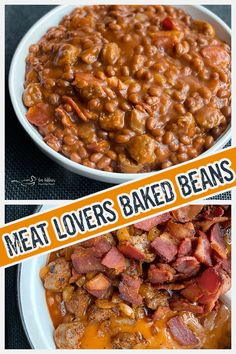 Dorothy's Meat Lovers Baked Beans by An Affair from the Heart | Hearty baked beans made with brats, bacon, smoky paprika and sweet and tangy Dorothy Lynch!