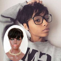 Cheap wig hinata, Buy Quality wig needle directly from China wig glue Suppliers: welcome Short bob wigs For Black Women None lace Human Hair Wigs With Bangs human hair pixie wigs bob hair cut Bob Cut Wigs, Pixie Cut Wig, Short Bob Wigs, Pixie Cuts, Asian Short Hair, Short Straight Hair, Short Hair Cuts, Brazilian Hair Wigs, Short Hair Styles For Round Faces