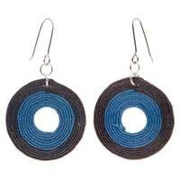 Ohrringe blau-schwarz L 5,5 cm