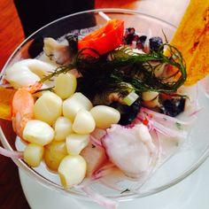 #Ceviche mixto en copa